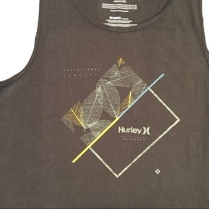 🍂 Hurley Leaf Breaking Lines Muscle Shirt NWT 🍂
